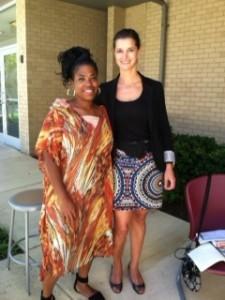 Lee-Ann Stephens visits Julia King's school in DC.