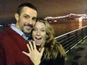 Megan and Mike engaged