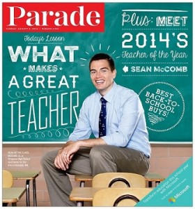 NTOY 2014 Sean McComb on the cover of Parade Magazine!