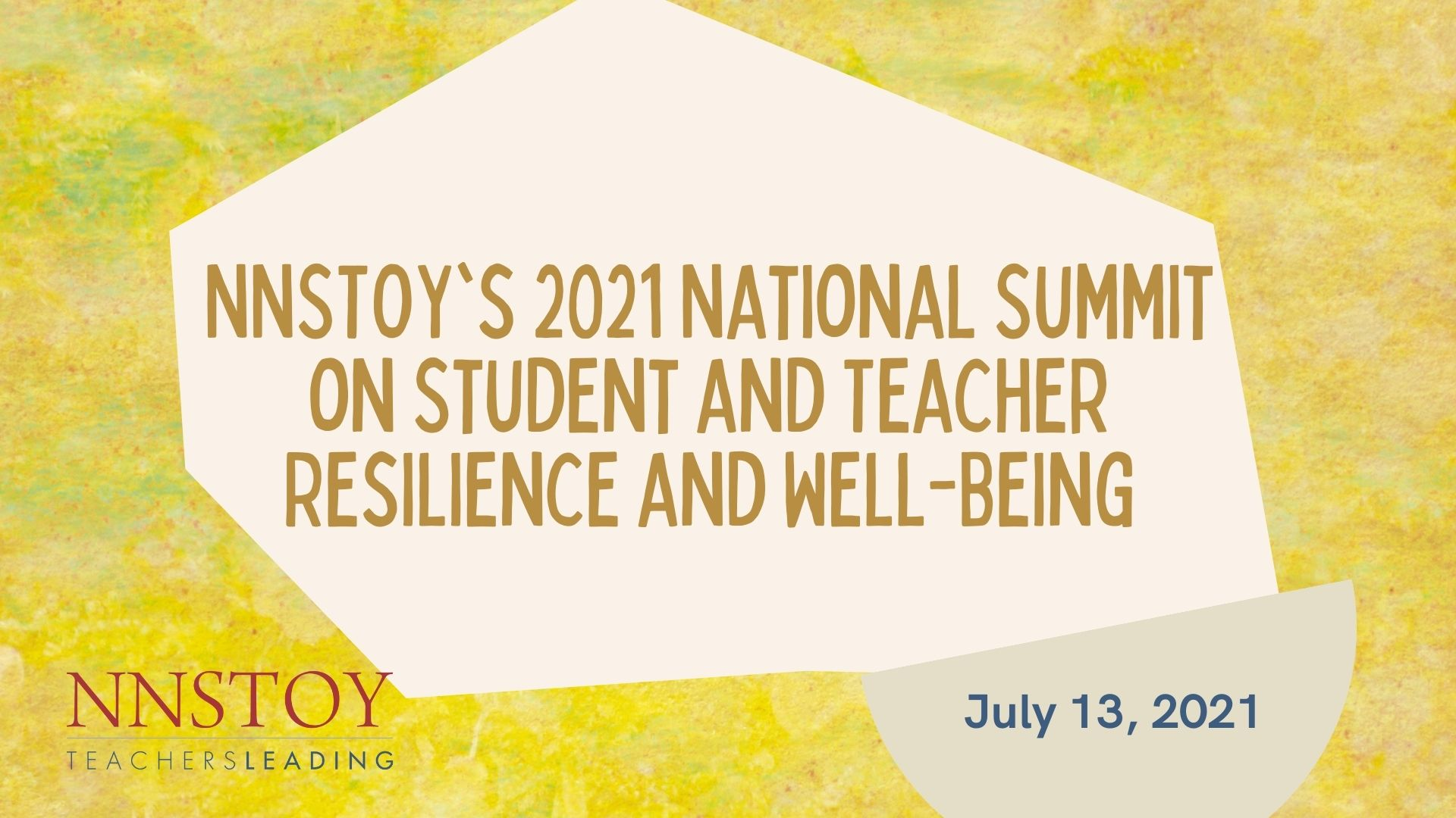 Watch: 2021 National Summit on Student and Teacher Resilience and Well-Being